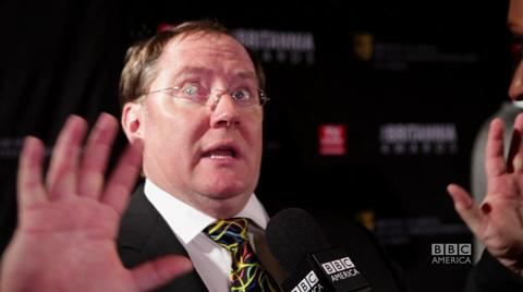 Pixar's John Lasseter at the Britannia Awards