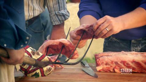 Pitchfork-fried Steak in Wyoming