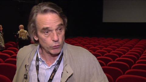 Jeremy Irons Talks 'Trash' at the Festival