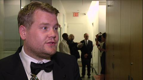 James Corden's Heartfelt Backstage Reaction to Tony Win...