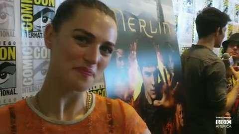 'Merlin' Star Katie McGrath at Comic-Con 2012