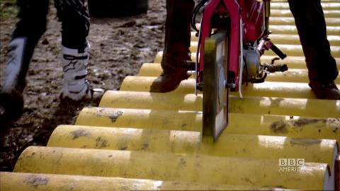 Square-Wheeled Motorbike Experiment