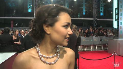 Samantha Barks on the Red Carpet