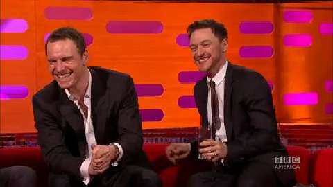A Michael Fassbender and James McAvoy Bromance