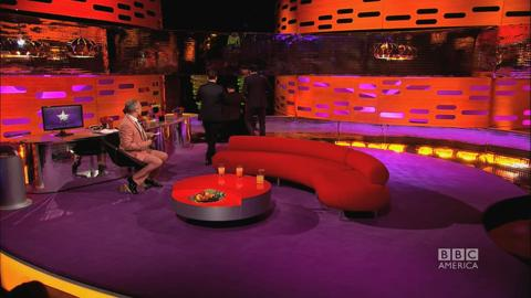 "The Graham Norton Show: Jackman, Fassbender, and McAvoy Dance to ""Blurred Lines"""