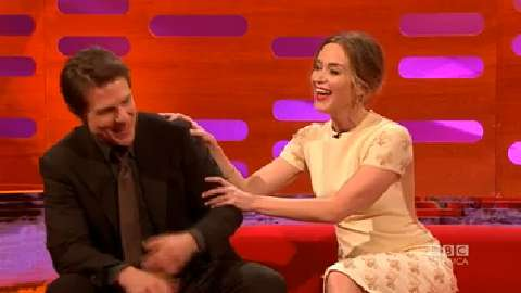 Emily Blunt Breaks Tom Cruise