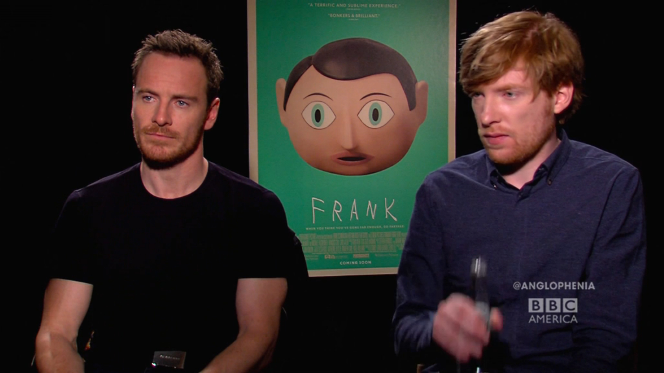 Michael Fassbender, Domhnall Gleeson Catch the Giggles
