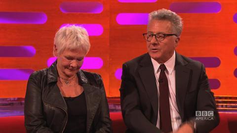 Dustin Hoffman Kisses Jason Bateman