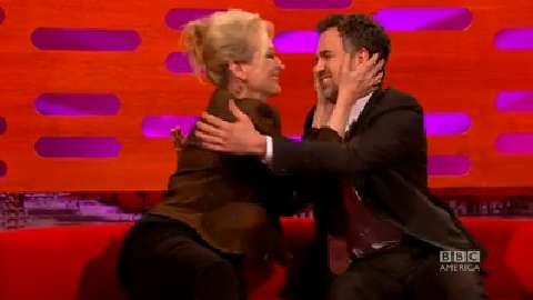Meryl Streep and Mark Ruffalo Kiss