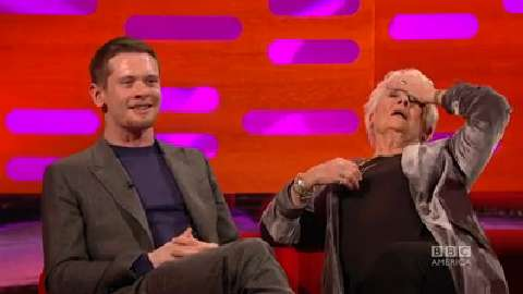 Dame Judi Dench Swoons Over Jack O'Connell's Butt Tatto...
