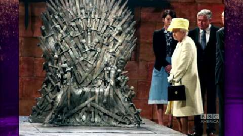 The Queen Visits 'Game of Thrones' Set
