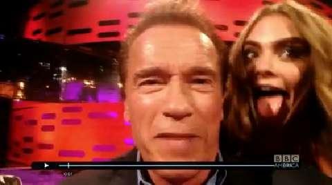 Arnold Schwarzenegger's Catchphrase Snapchat