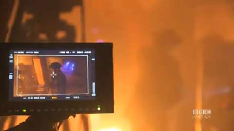 Doctor Who: 'Sleep No More's' Wall of Fire